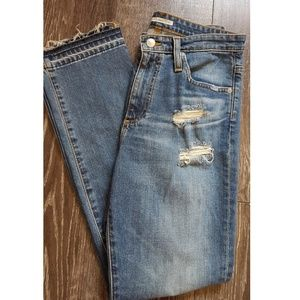 Alexa Chung For AG Distressed Straight Leg